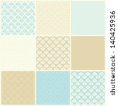 Set Of Damask Seamless Pattern...