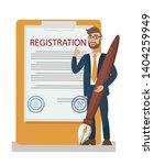 membership contract ... | Shutterstock .eps vector #1404259949