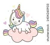 illustrator of unicorn vector... | Shutterstock .eps vector #1404260933