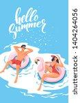 hello summer. happy vacation.... | Shutterstock .eps vector #1404264056