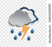 thunderstorm clouds and rain... | Shutterstock .eps vector #1404269090