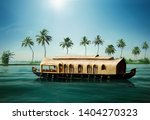 kerala boat house india tourism | Shutterstock . vector #1404270323