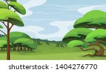 rural landscape with trees ... | Shutterstock .eps vector #1404276770