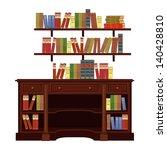 book cabinet vector | Shutterstock .eps vector #140428810