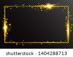 shiny glowing gold frame on... | Shutterstock .eps vector #1404288713