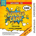 Summer Camp Invitation Banner...