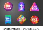 set label colorful gradient...   Shutterstock .eps vector #1404313673