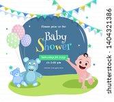 baby shower poster or... | Shutterstock .eps vector #1404321386