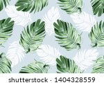 hand drawn natural leaves ... | Shutterstock .eps vector #1404328559
