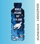 world oceans day concept  many... | Shutterstock .eps vector #1404329450