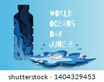world oceans day concept  many... | Shutterstock .eps vector #1404329453