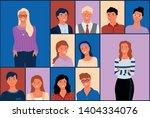 people of different age and... | Shutterstock .eps vector #1404334076
