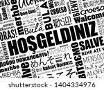 hosgeldiniz  welcome in turkish ... | Shutterstock .eps vector #1404334976
