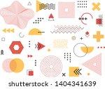 memphis retro design elements....   Shutterstock .eps vector #1404341639