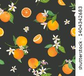 seamless orange pattern with... | Shutterstock .eps vector #1404342683