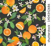 seamless orange pattern with... | Shutterstock .eps vector #1404342686