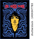 Psychedelic Art Poster Woman...