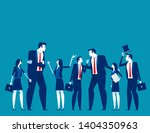 business team talk and consult. ... | Shutterstock .eps vector #1404350963