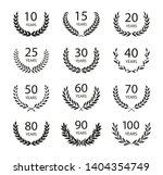 set of anniversary laurel...   Shutterstock .eps vector #1404354749