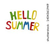 hello summer waterrcolor...   Shutterstock . vector #1404361949
