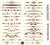 Set Of Dividers  Ornamental...