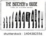 the butcher's guide   type of... | Shutterstock .eps vector #1404382556