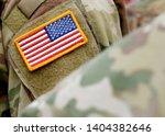 american flag on us military...   Shutterstock . vector #1404382646