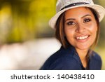 beautiful young woman closeup... | Shutterstock . vector #140438410