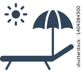 sunbathe isolated vector icon... | Shutterstock .eps vector #1404384500