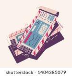two tickets. cartoon vector... | Shutterstock .eps vector #1404385079