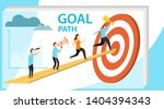 path to goal  goal achievement  ... | Shutterstock .eps vector #1404394343