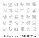 set of vector line icons of... | Shutterstock .eps vector #1404400256