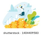 profitable investment  funding... | Shutterstock .eps vector #1404409583