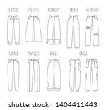trendy women jeans styles... | Shutterstock .eps vector #1404411443
