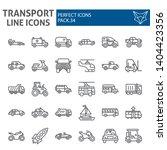 transport line icon set ... | Shutterstock .eps vector #1404423356