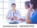 doctors consulting with each... | Shutterstock . vector #1404431543