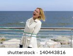 young woman trapped by a rope... | Shutterstock . vector #140443816