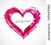 grunge paper cut heart. vector...