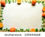 oranges with mint leaves. | Shutterstock . vector #140444668