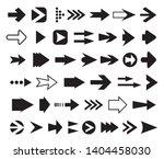 arrows vector collection set of ... | Shutterstock .eps vector #1404458030