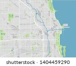 Vector City Map Of Chicago With ...