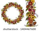 doodle floral garland  floral...   Shutterstock .eps vector #1404467600