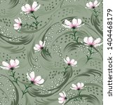 curls design elements on flower ... | Shutterstock .eps vector #1404468179