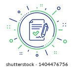 approved agreement line icon.... | Shutterstock .eps vector #1404476756
