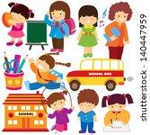 back to school clip art   Shutterstock .eps vector #140447959