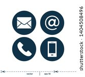 contact icons symbol logo... | Shutterstock .eps vector #1404508496