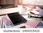 accounting. items for doing... | Shutterstock . vector #1404515423