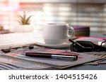 accounting. items for doing... | Shutterstock . vector #1404515426
