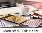 accounting. items for doing... | Shutterstock . vector #1404515429