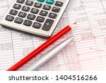 accounting. items for doing... | Shutterstock . vector #1404516266